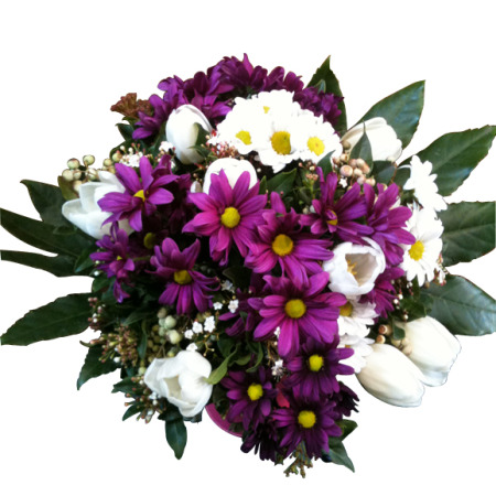 Pink and white round posy flowers melbourne city pink and white round posy melbourne city mightylinksfo