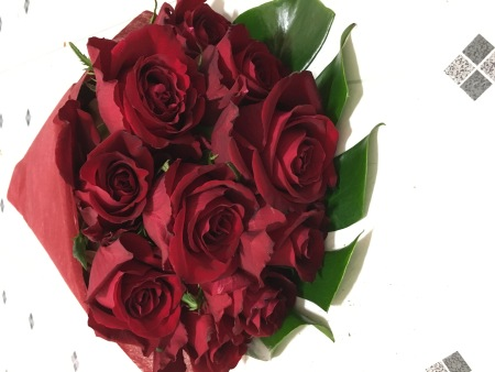 Valentines day flowers delivery - Ever Red Rose bouquet