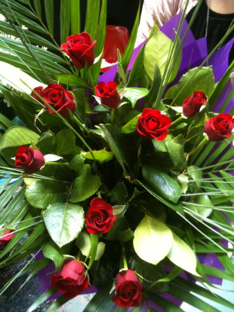 Valentines day flowers delivery - Red Rose Deluxe Bouquet