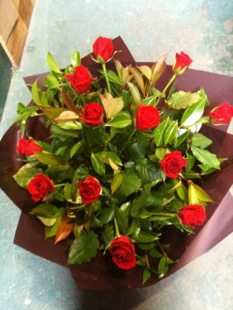 Valentines day flowers delivery - Luscious bouquet filled with 12 red roses