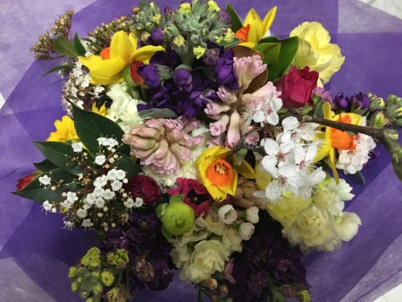 Scents of Spring.Flower posy for delivery in Melbourne.