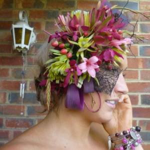 Spring Collection Purple and Pink Headpiece-Flowers Melbourne City