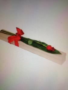 Boxed Single Red Rose.Flowers Delivered Free