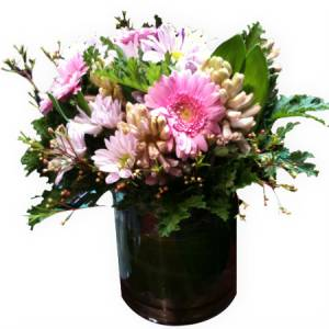 Scented Pink Vase Arrangement-Flowers Melbourne-City