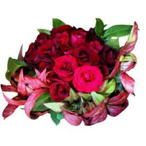 Aromatic Red Rose Posy