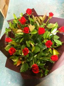 Red rose bouquet.Valentines day In Melbourne.
