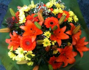 Bright and Cheerful Colourful Bouquet.Fresh Flowers.