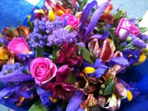 Purple Mixed Flower Bouquet Online in Melbourne