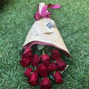 12 Long Stem Red Roses  -SOLD OUT