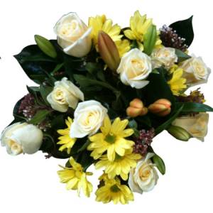 White and Yellow Fragrant Posy