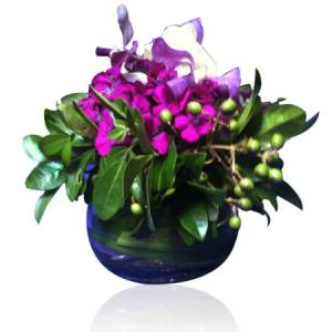 Purple Posy Fishbowl